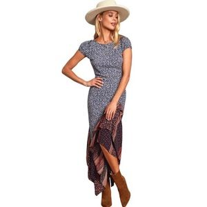 NWT Free People Aurelia Midi Dress